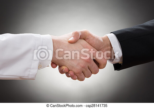 Doctor And Businessman Shaking Hand - csp28141735