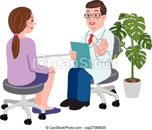 Doctor And His Female Patient At His Office Doctor