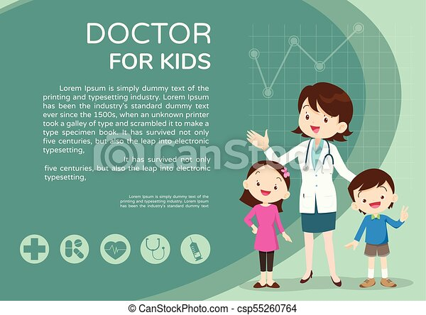 Doctor And Kids Background Poster Landscape