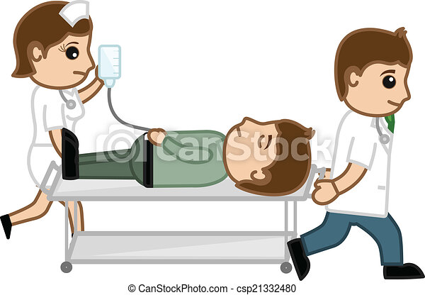 Doctor And Nurse Carrying Patient