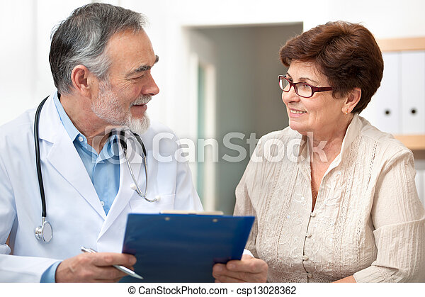Doctor and patient - csp13028362