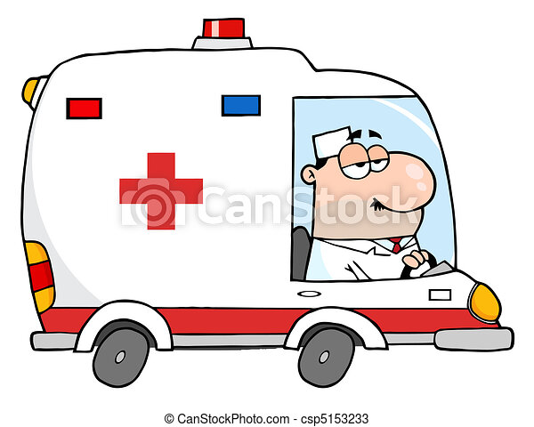 Doctor Driving Ambulance - csp5153233