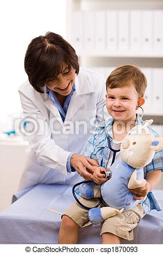Doctor examining child - csp1870093