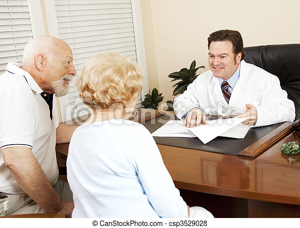 Doctor Gives Good News to Patient - csp3529028