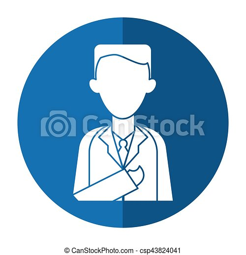 doctor healthcare professional clinic with shadow vector eps rh canstockphoto com Tree Shadow Clip Art Reflection Clip Art