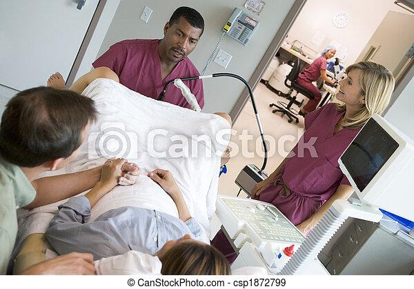 doctor, huevos, recuperar, ultrasonido, utilizar, ovario - csp1872799