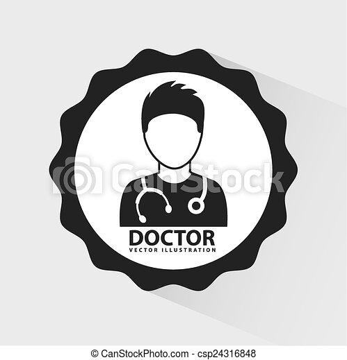 doctor icon  - csp24316848