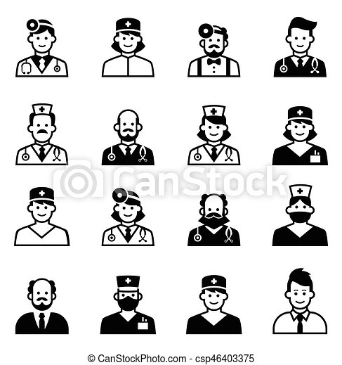 doctor icon set medical clinic staff icon avatars of Free Clip Art Medical Icons Free Clip Art for Medical Use
