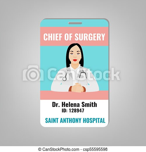 doctor id card doctors id card with house surgeon image medical