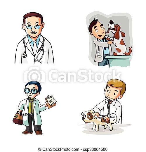 doctor illustration design - csp38884580