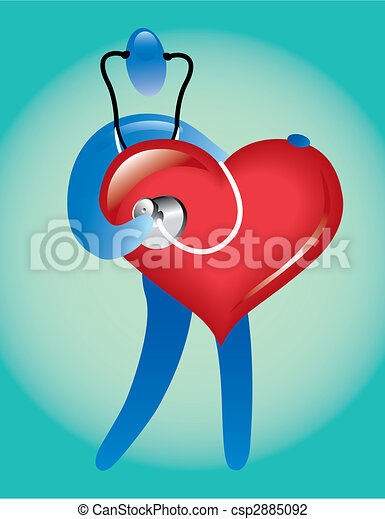 doctor heart care vector illustration search clipart drawings rh canstockphoto co uk Vintage Heart Clip Art Doctor Icon Heart