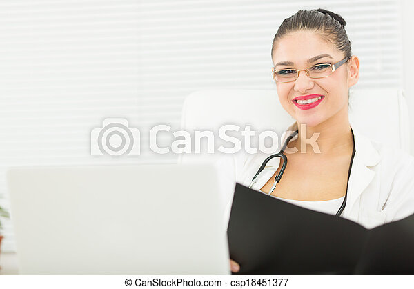 Doctor in office - csp18451377