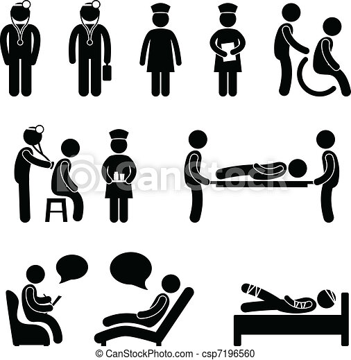 Doctor Nurse Hospital Patient Sick - csp7196560