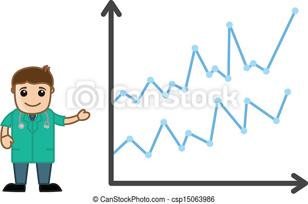 Doctor Presenting Medical Stats - csp15063986