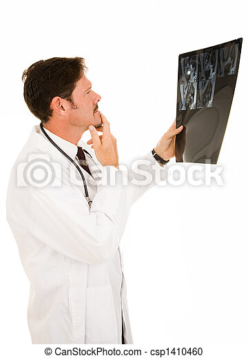 Doctor Reviewing MRI Results - csp1410460