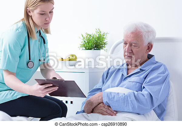 Doctor talking with patient - csp26910890
