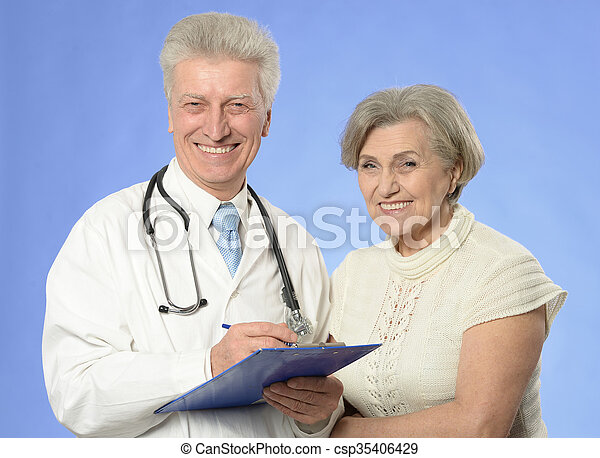 doctor with a patient - csp35406429