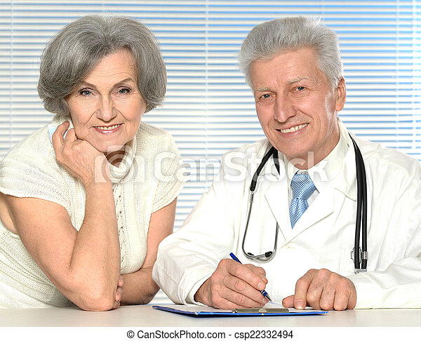 doctor with a patient - csp22332494