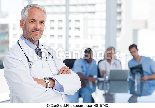 Doctor with arms folded - csp14015743