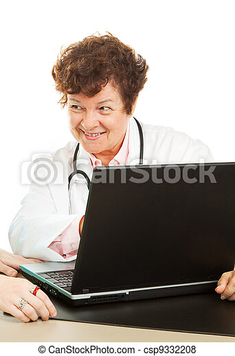 Doctor with Good News - csp9332208
