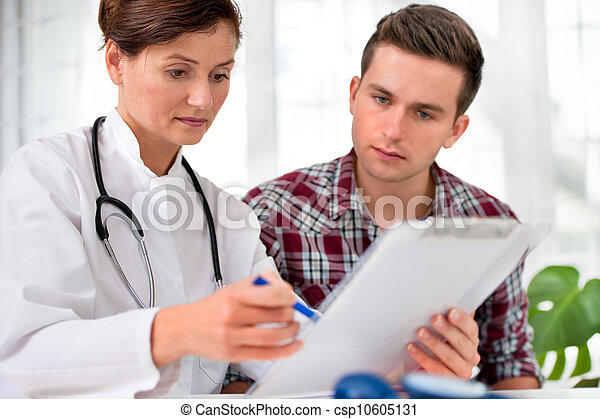 doctor with male patient - csp10605131