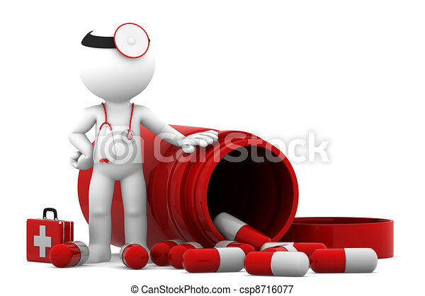 Doctor with pills - csp8716077