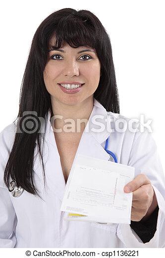 Doctor with prescription - csp1136221