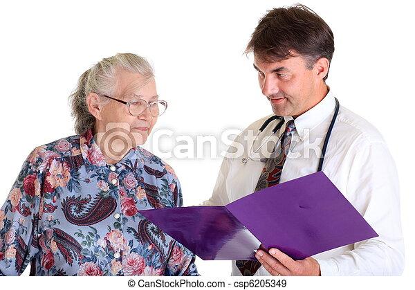 Doctor with senior patient - csp6205349