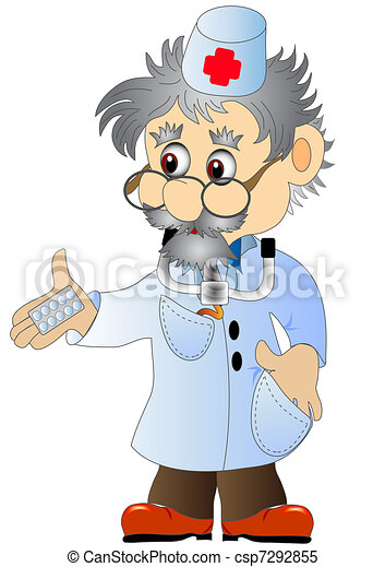 doctor with tablet - csp7292855
