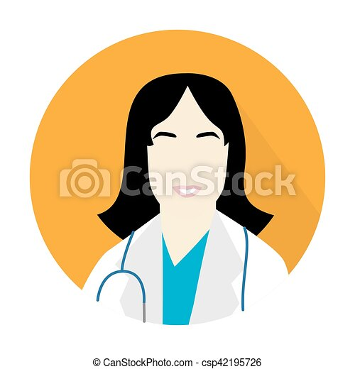 doctor woman icon - csp42195726