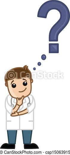 Doctor Wondering - How To FAQ - csp15063915