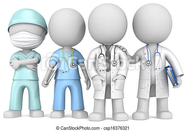 Doctors and Nurse. - csp16376321