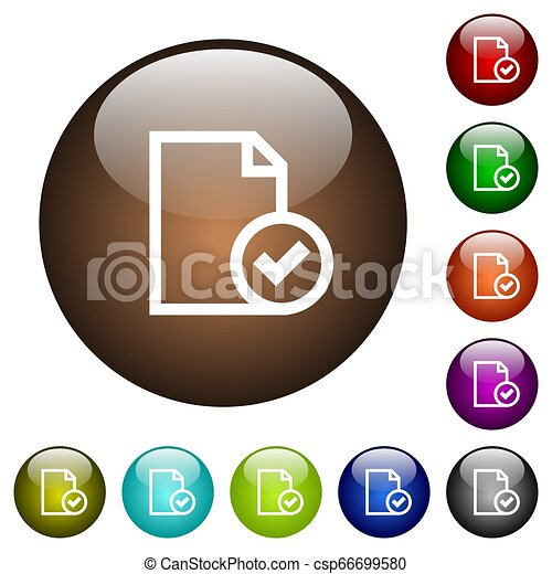 Document accepted color glass buttons - csp66699580