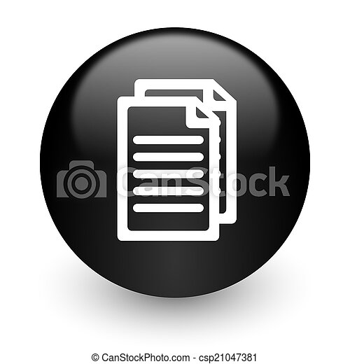 document black glossy internet icon - csp21047381