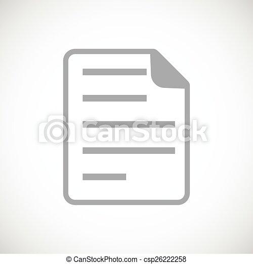 Document black icon - csp26222258