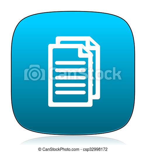 document blue icon - csp32998172