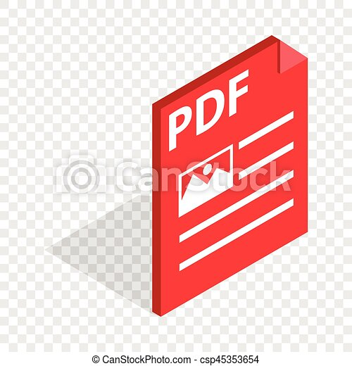 Document File Format Pdf Isometric Icon 3d On A Transparent