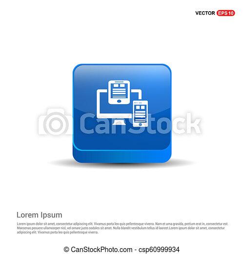Document Icon - 3d Blue Button - csp60999934