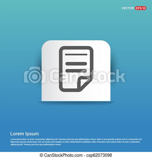 Document Icon - Blue Sticker button - csp62073098