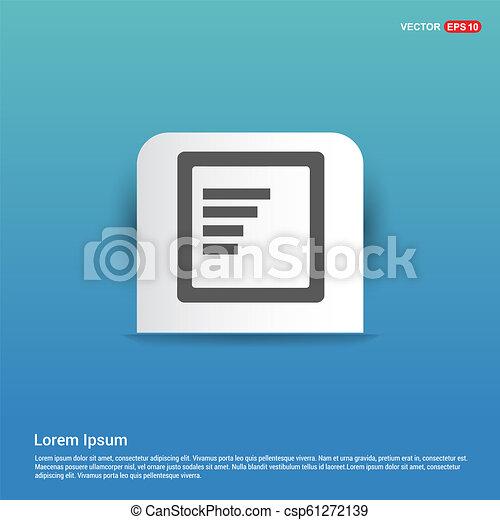 Document Icon - Blue Sticker button - csp61272139