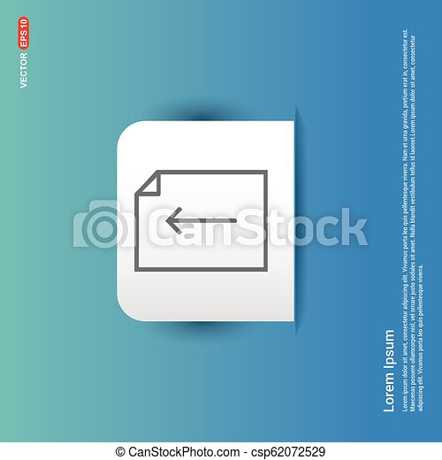 Document Icon - Blue Sticker button - csp62072529