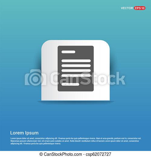 Document Icon - Blue Sticker button - csp62072727