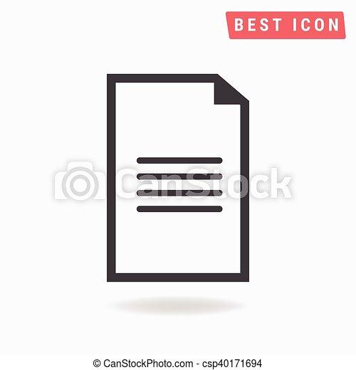 Document Icon - csp40171694