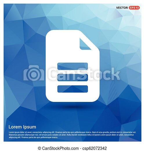 Document Icon - csp62072342