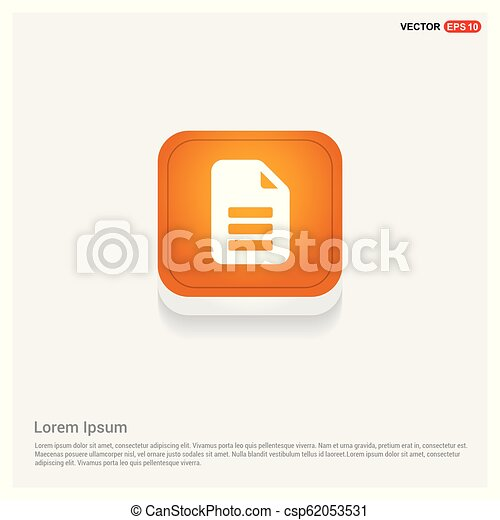 Document Icon - csp62053531