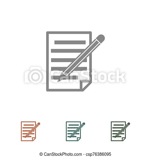 document icon isolated on white background - csp76386095
