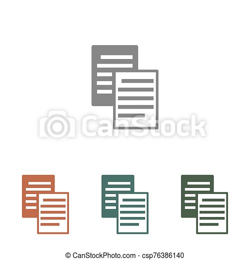 document icon isolated on white background - csp76386140