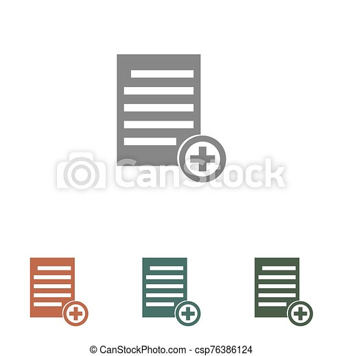 document icon isolated on white background - csp76386124