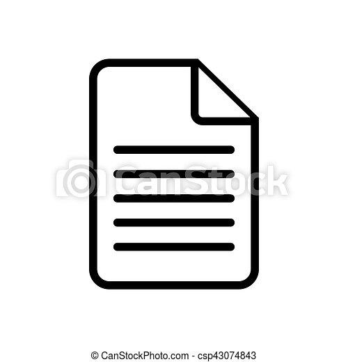 Document icon on white. - csp43074843