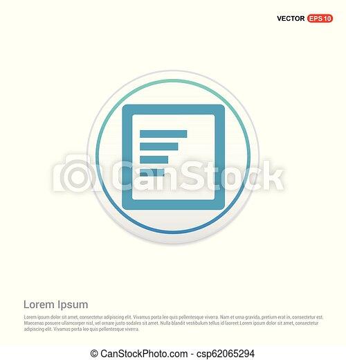 Document Icon - white circle button - csp62065294